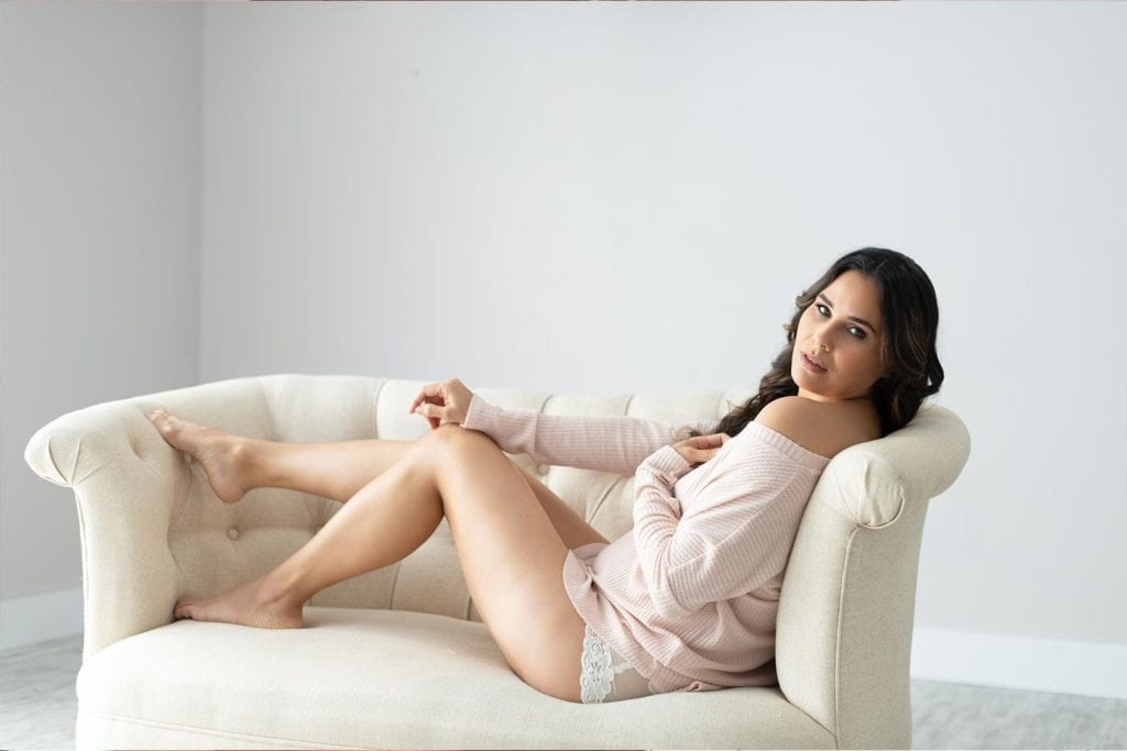 woman sitting in couch